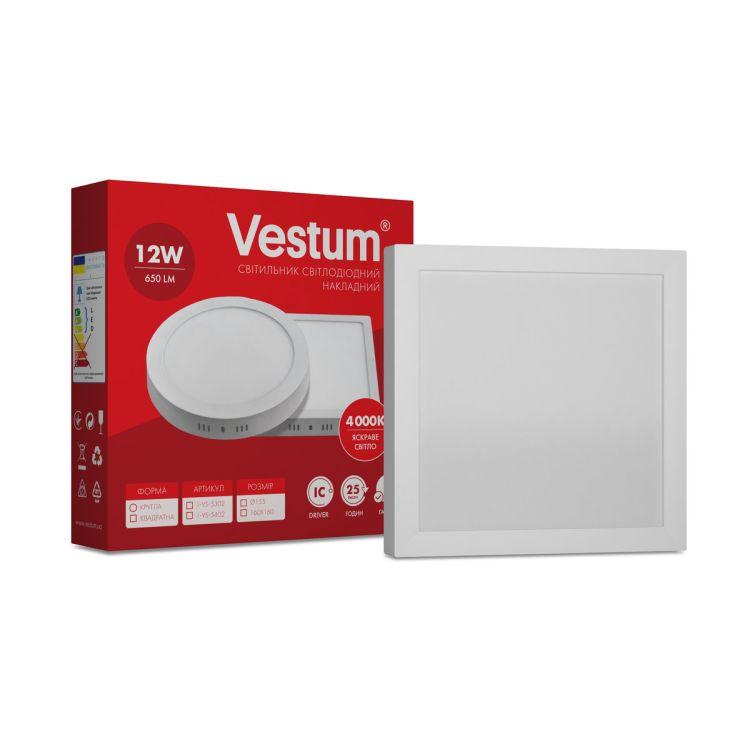 Светильник LED накладной квадратный Vestum 12W 4000K 220V - 1