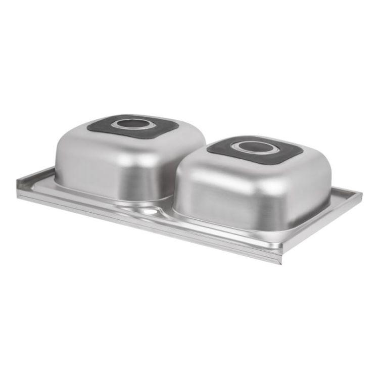 Кухонна мийка Lidz 5080 Satin 0,8 мм (LIDZ5080SAT8) - 5