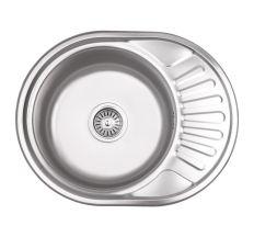 Кухонна мийка Lidz 5745 dekor 0,6 мм (LIDZ5745MDEC06)