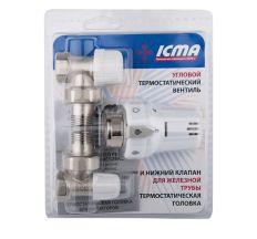 """Термокомплект Icma 1/2"""" прямої №KTE985+775+815"""