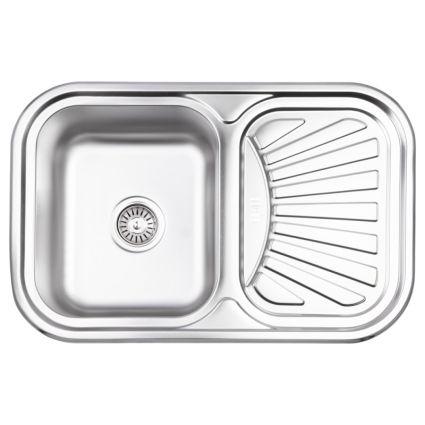 Кухонна мийка Lidz 7549 dekor 0,8 мм (LIDZ7549MICDEC) - 1