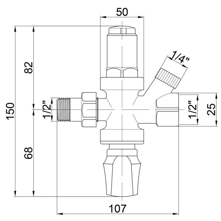 249 Підживлюючий клапан 1/2 (1-6 бар) ІСМА - 2