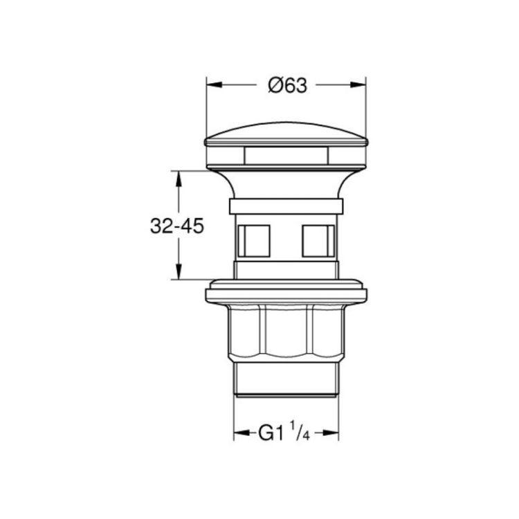 Донный клапан Grohe 40824000 - 2