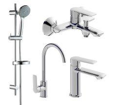 Набор смесителей для ванны и кухни (4 в 1), kit30093