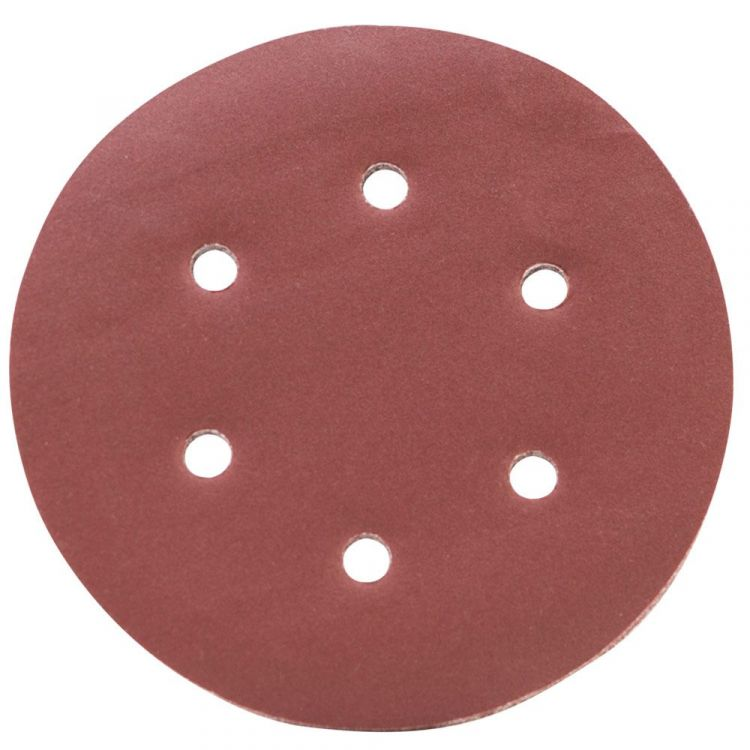 Шлифовальный круг 6 отверстий Ø150мм P320 (10шт) Sigma (9122331) - 1