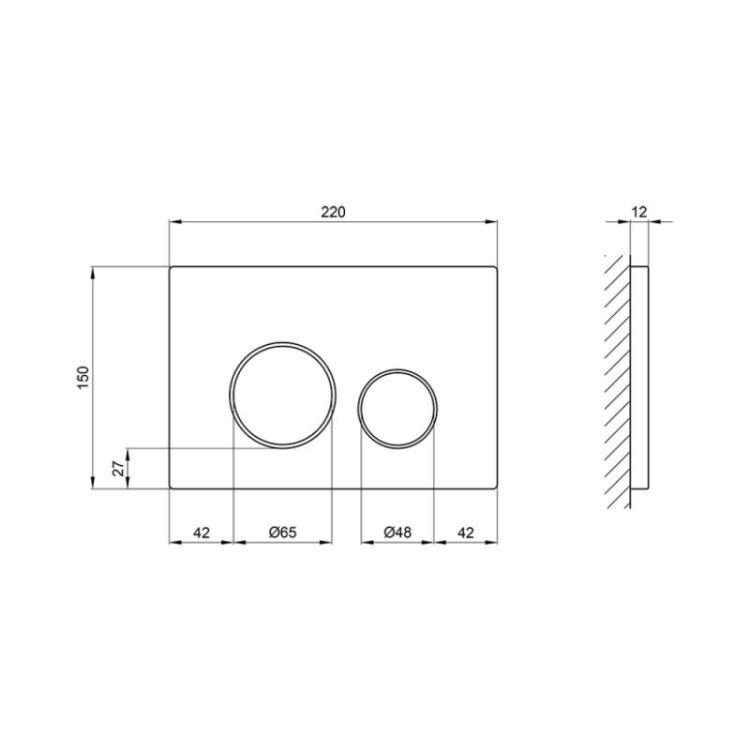 Панель змиву для унітазу Q-tap Nest PL M11SAT - 2