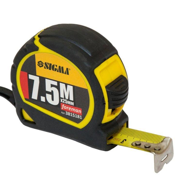 Рулетка Foreman 7.5 м*25мм Sigma (3815181) - 1