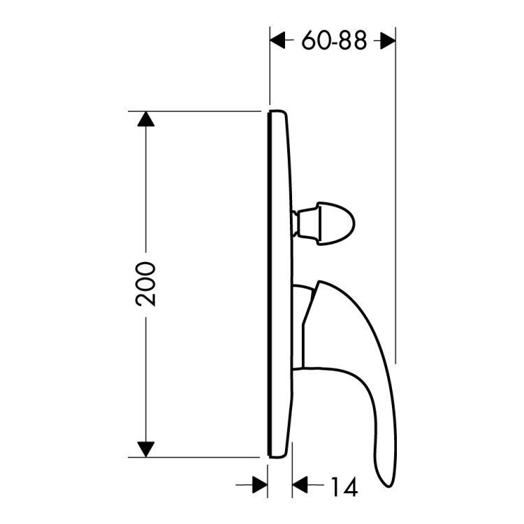 Focus E Змішувач для ванни одноважільний HANSGROHE 31745000 - 2