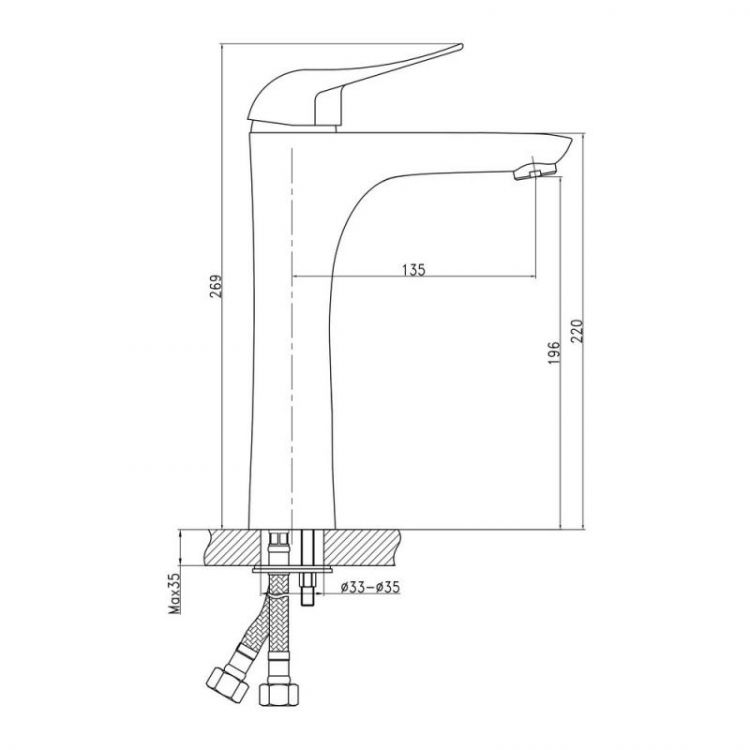 Смеситель для умывальника Q-tap Integra XL 001 - 2