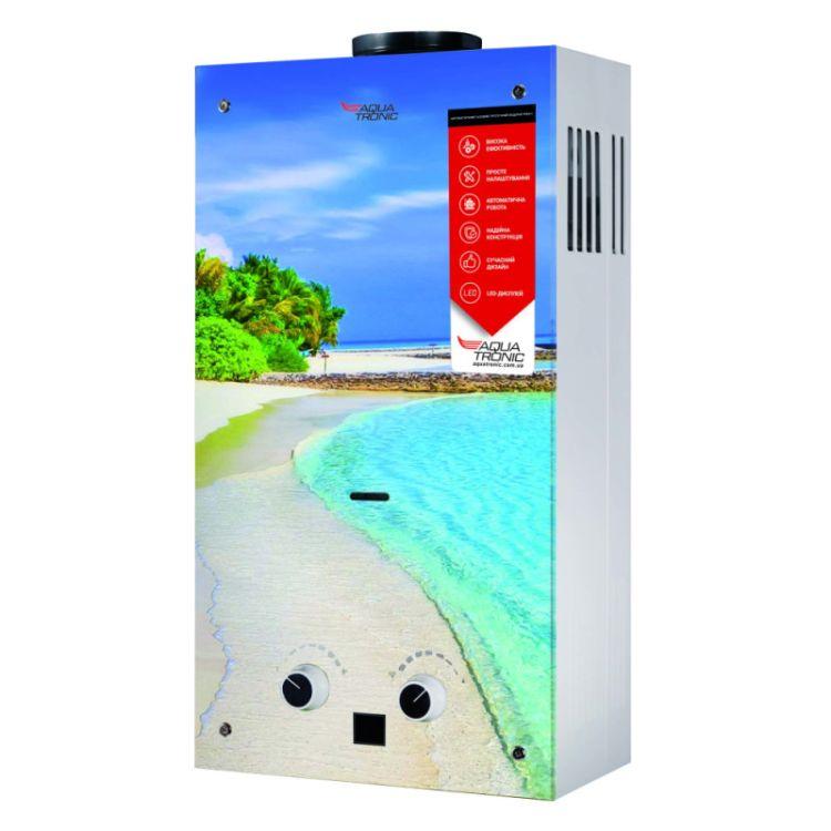 Колонка димохідна газова Aquatronic JSD20-AG308 10 л скло (пляж) - 1