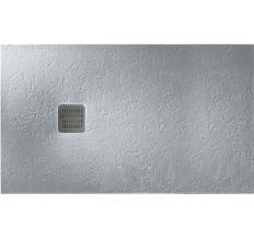 TERRAN піддон 160*90*3,1 см, з мистецтв. каменю STONEX, прямокутний, з трапом і сифоном в комплекті, колір цемент