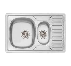 Кухонна мийка Qtap 7850-B dekor 0,8 мм (QT7850BMICDEC08)
