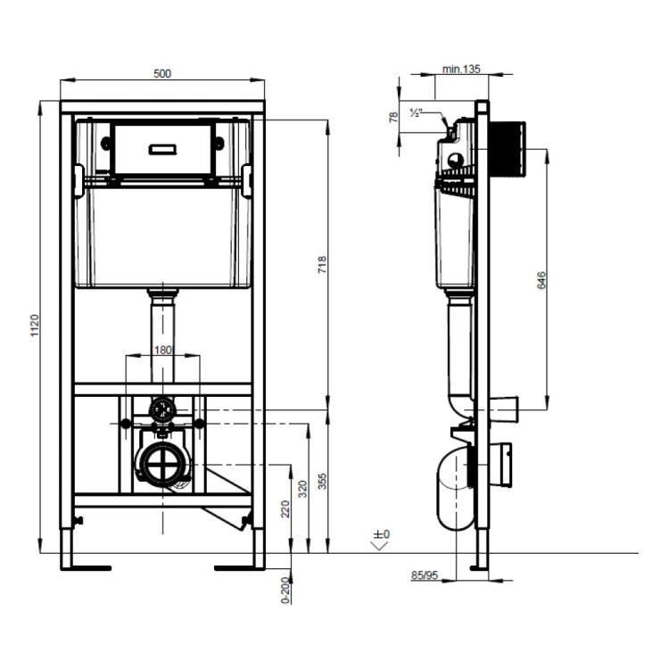 VICONNECT PRO інсталяція для підвісного унітазу - 2