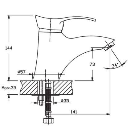 Змішувач для умивальника HAIBA Eris 001 - 2