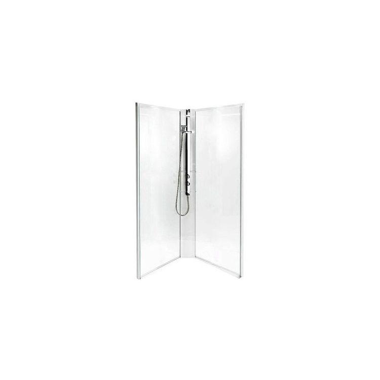 IDO задні стінки душової п'ятикутні кабіни 90*90см, срібний профіль/матове скло - 2