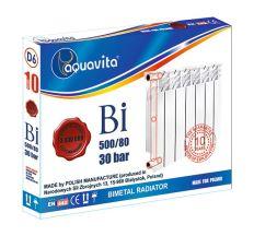 Секция радиатора биметаллического AQUAVITA 500/80 D6, 30 бар