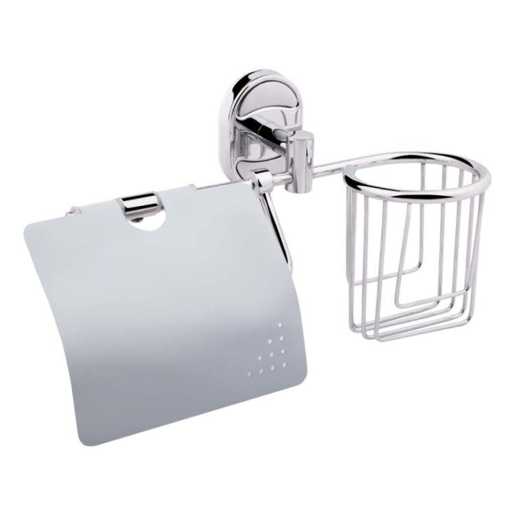 Держатель для туалетной бумаги и освежителю с крышкой Potato P2903-1 - 1