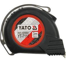 Рулетка Yato с нейлоновым покрытием и магнитным наконечником 3мх16мм YT-7110