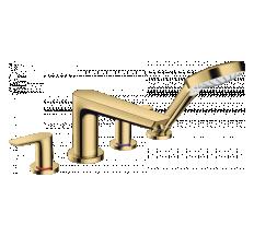 TALIS E смеситель на край ванны, на 4 отверстия, полированное золото