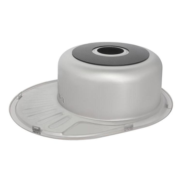 Кухонна мийка Lidz 5745 dekor 0,8 мм (LIDZ5745MDEC) - 5