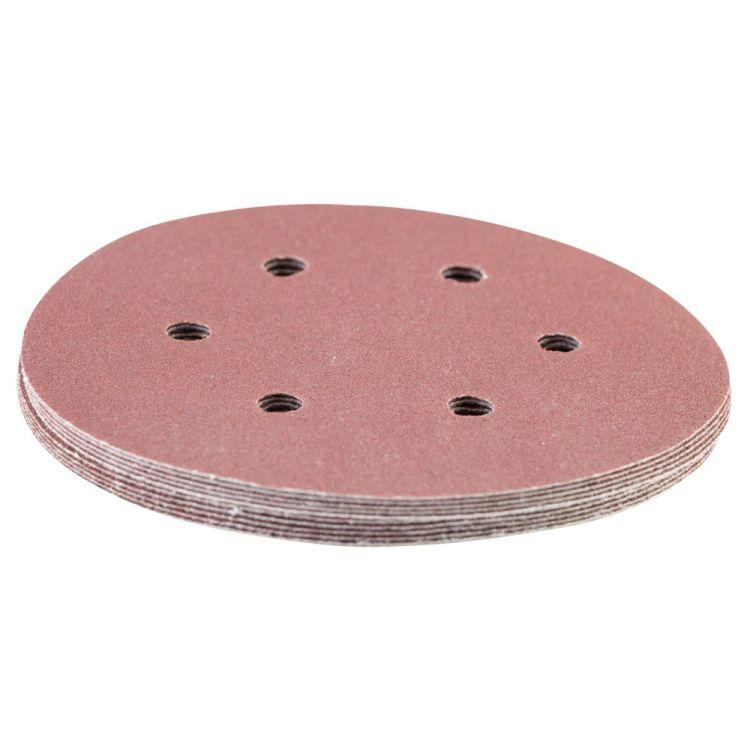 Шлифовальный круг 6 отверстий Ø150мм P120 (10шт) Sigma (9122271) - 3