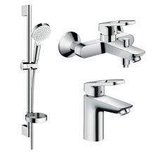 Logis Loop Набір змішувачів для ванни, умивальника 100 (71151000+71244000+26553400)