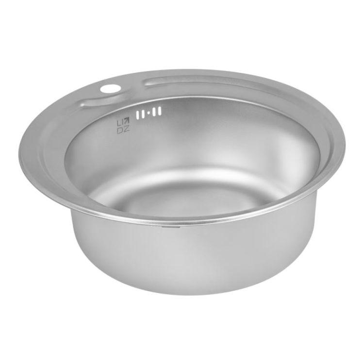 Кухонна мийка Lidz 510-D dekor 0,8 мм (LIDZ510DEC) - 4