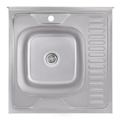 Кухонна мийка Lidz 6060-L Decor 0,6 мм (LIDZ6060LDEC06) - 1