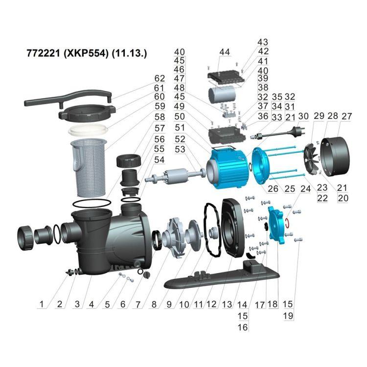 Насос для басейну Aquatica 772221 0.55кВт Hmax 10м Qmax 300л/мин - 3