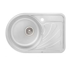 Кухонна мийка Qtap 6744L Satin 0,8 мм (QT6744LSAT08)