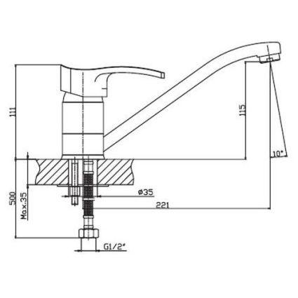 Змішувач для умивальника HAIBA Focus 004 - 2