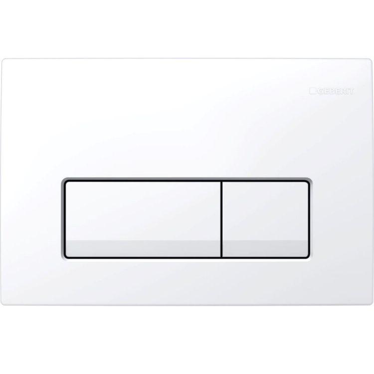 Delta 51 Змивна клавіша, подвійний змив, пластик, білий - 1
