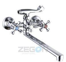 Смеситель для ванны Zegor длинный гусак T65-DFU7-A827