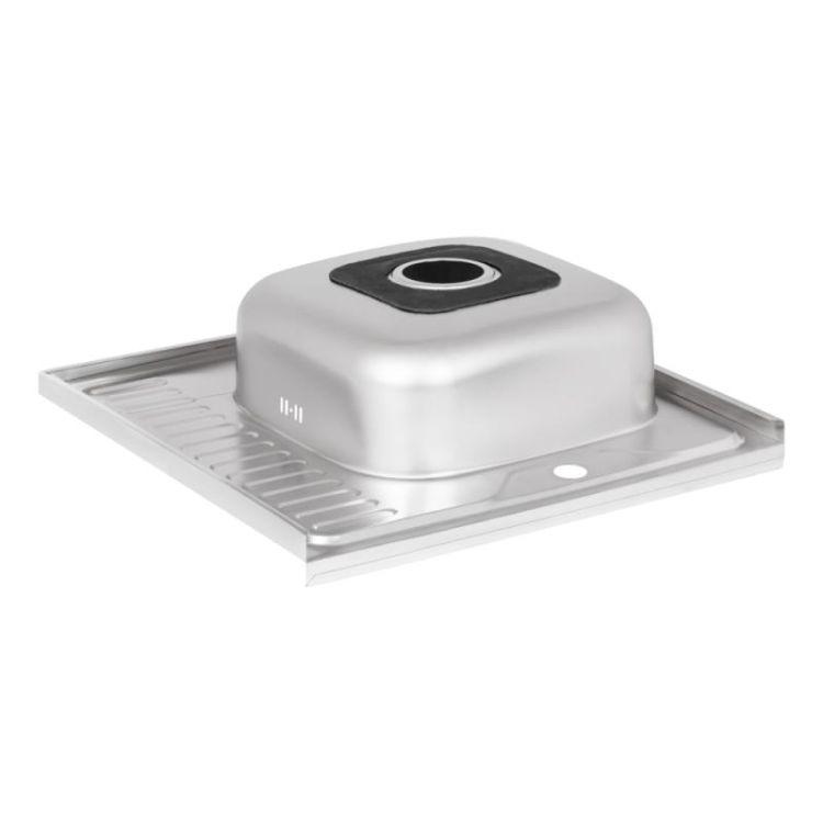Кухонна мийка Lidz 6060-R Decor 0,8 мм (LIDZ6060RDEC08) - 5