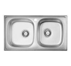 Кухонна мийка подвійна ULA 5104 dekor (ULA5104DEC08)
