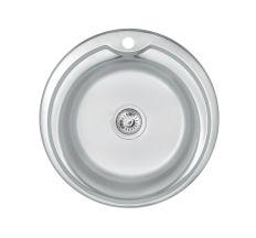 Кухонна мийка Lidz 510-D 0,6 мм Satin (LIDZ510D06SAT180)