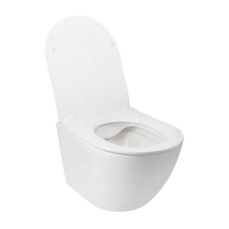 Комплект інсталяція Grohe Rapid SL 38827000 + унітаз з сидінням Qtap Jay QT07335176W + набір для гігієнічного душу зі змішувачем Grohe BauClassic 111048 - 4