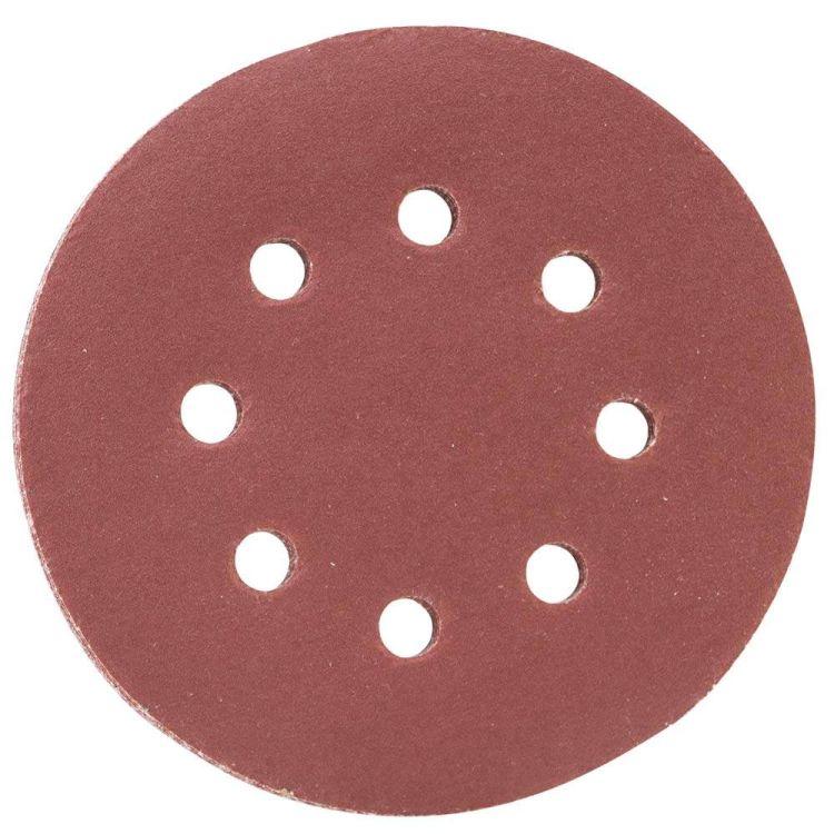 Шлифовальный круг 8 отверстий Ø125мм P320 (10шт) Sigma (9122731) - 1