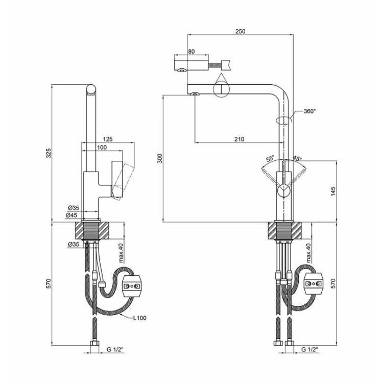 Змішувач для кухні Q-tap Iris CRM 007F - 2