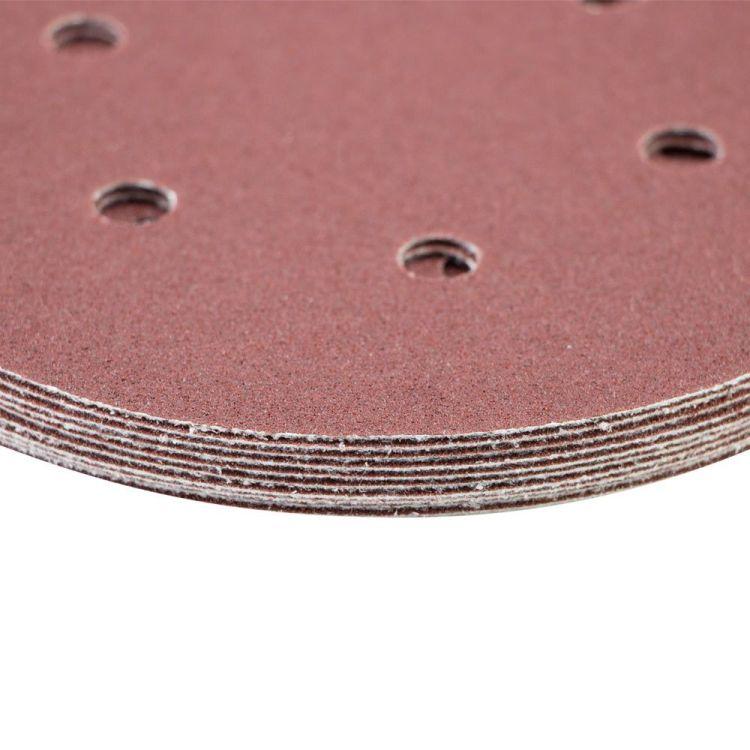 Шлифовальный круг 6 отверстий Ø150мм P80 (10шт) Sigma (9122251) - 4