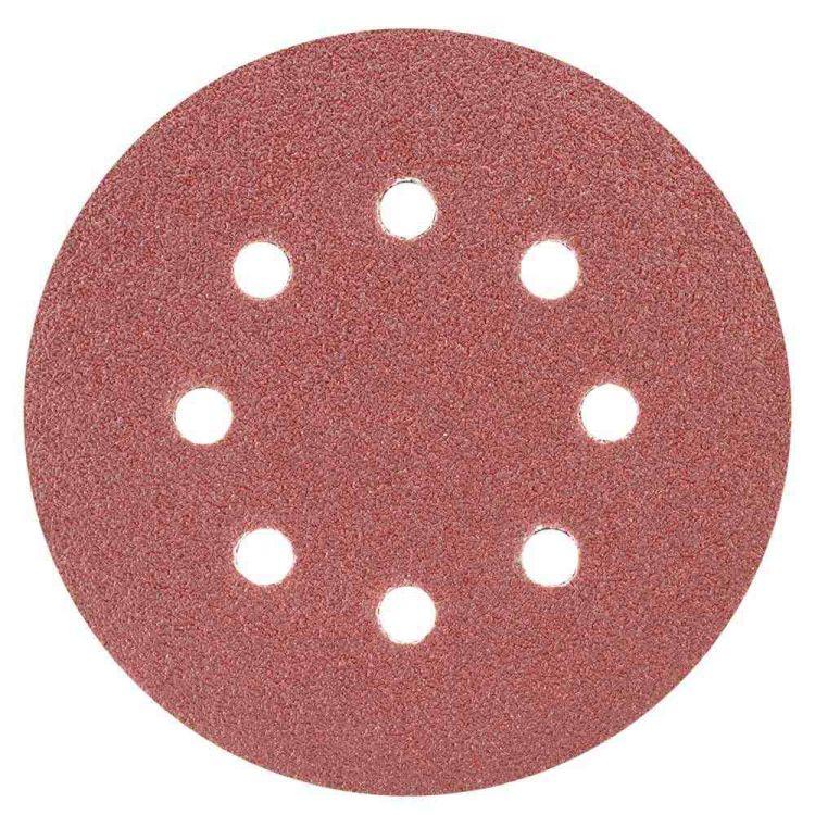 Шлифовальный круг 8 отверстий Ø125мм P60 (10шт) Sigma (9122641) - 1