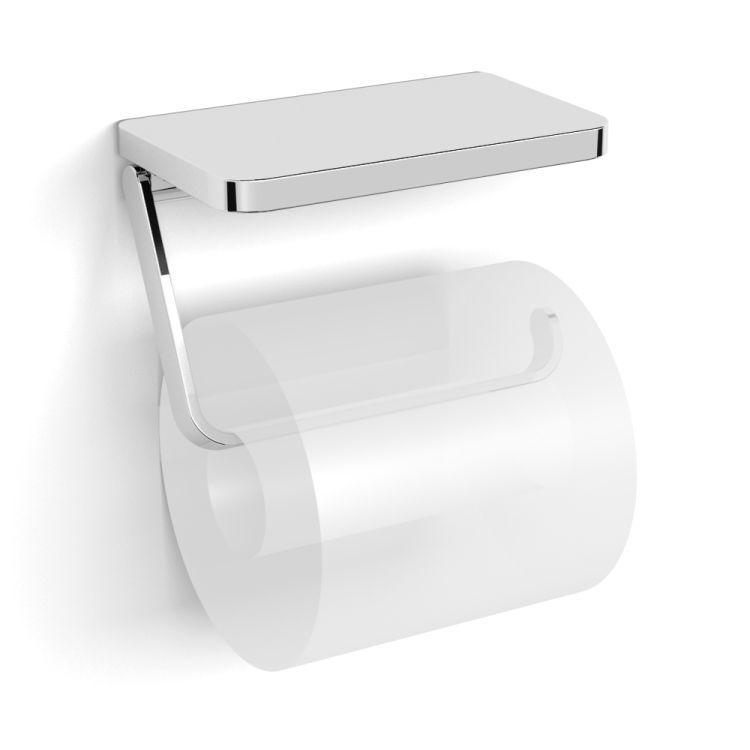 TEO тримач паперу-поличка, кріплення до стіни, хром - 1