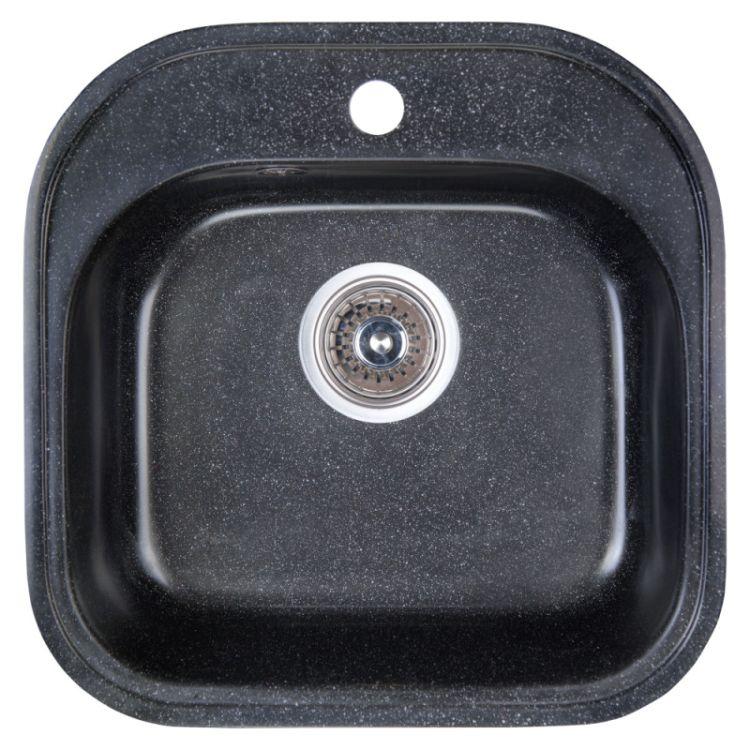 Мийка Fosto 48х49/475*475*170 колір SGA-420 чорний (без сифона) - 1