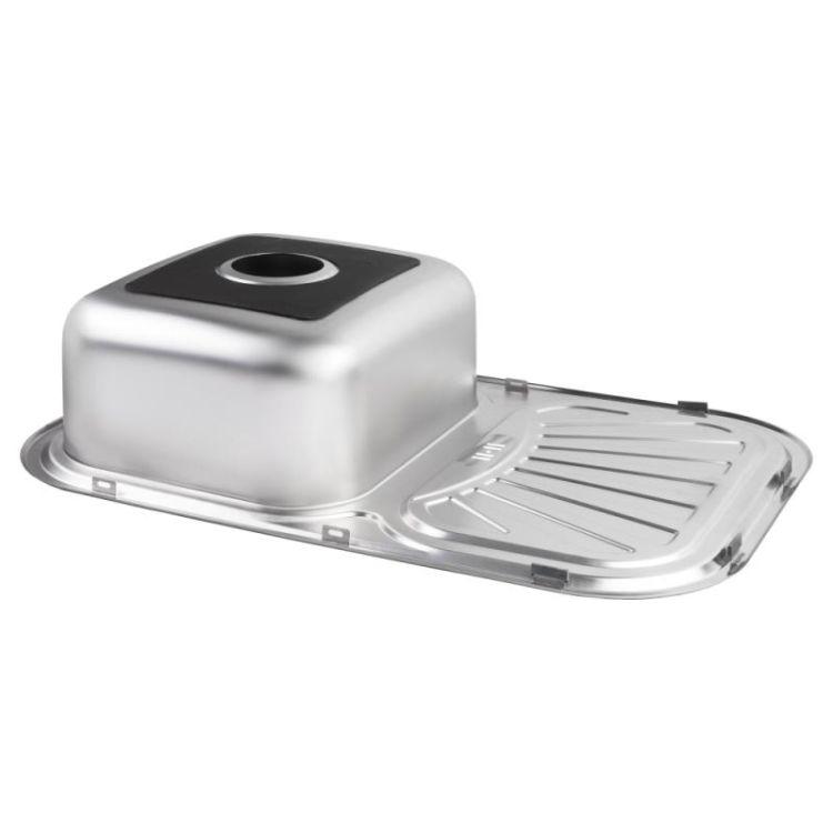 Кухонна мийка Lidz 7549 Satin 0,8 мм (LIDZ7549SAT8) - 4