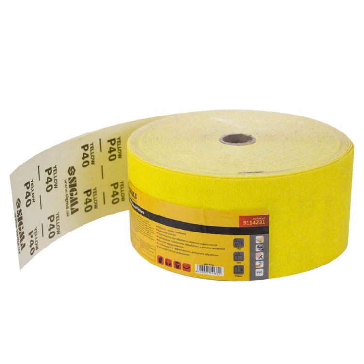 Шлифовальная бумага рулон 115ммх50м P40 Sigma (9114231) - 1