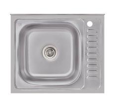Кухонна мийка Lidz 6050-L Satin 0,6 мм (LIDZ6050L06SAT)