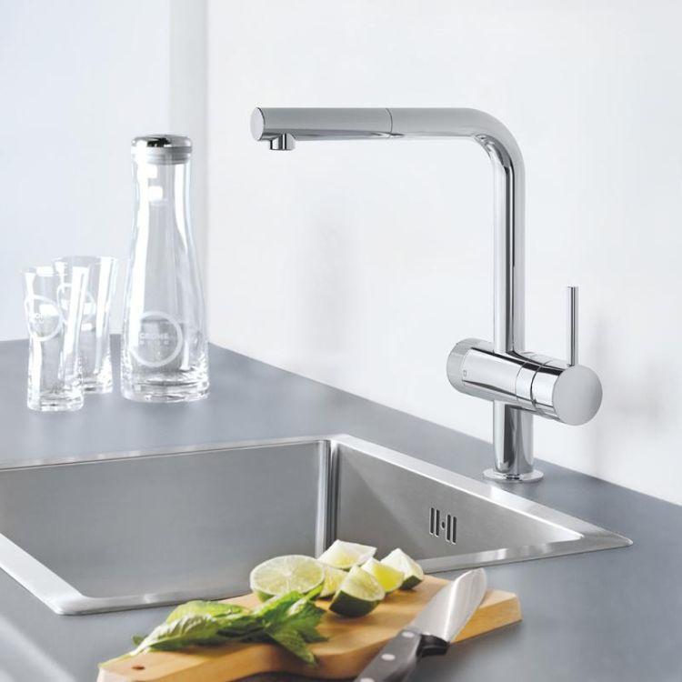 Pure Blue Minta змішувач одинважільний для миття з функцією очищення водопровідної води, монтаж на один отвір - 8