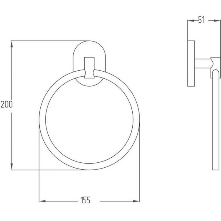 Тримач для рушника кільце Potato P2904 - 2