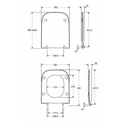 MODO сиденье для унитаза Slim, из материала Duroplast, антибактериальное, Soft close - 2