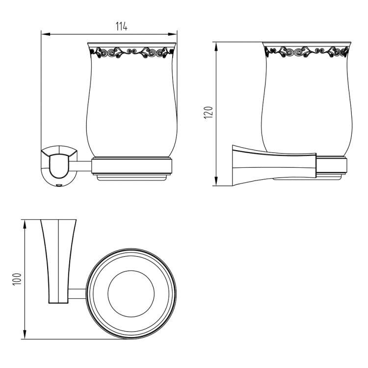 CUTHNA zlato стакан для зубных щеток - 2